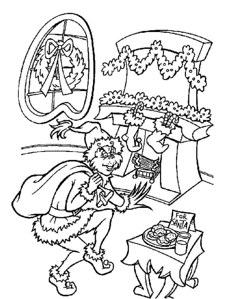 Christmas Coloring Pages The Grinch With Hundreds Of Free Printable Xmas And Activity