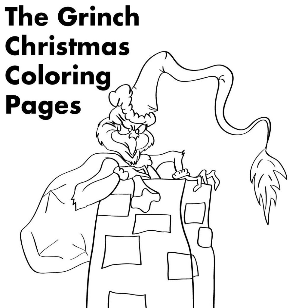Christmas Coloring Pages The Grinch With Printable Holidappy