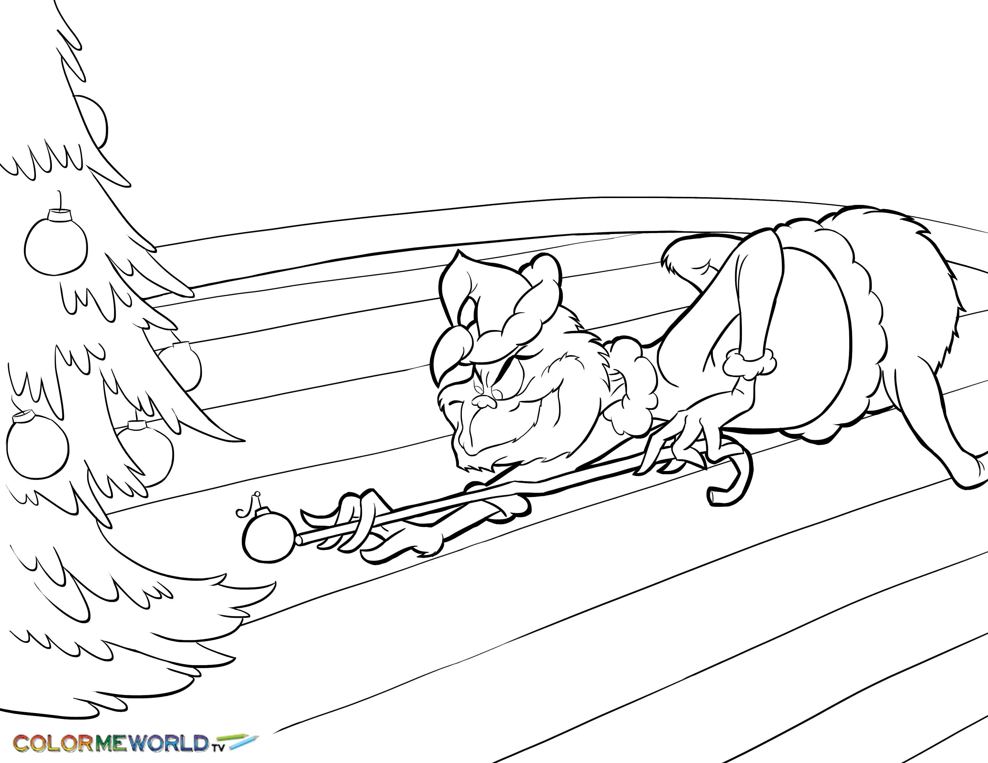 Christmas Coloring Pages The Grinch With Stole Best