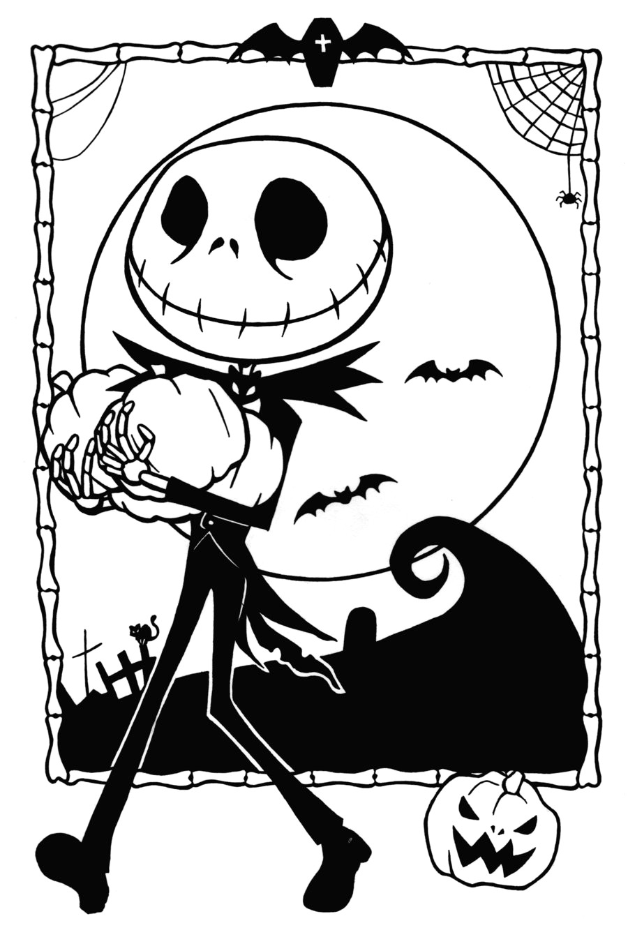 Christmas Coloring Pages To Print Free With Printable Nightmare Before Jack And