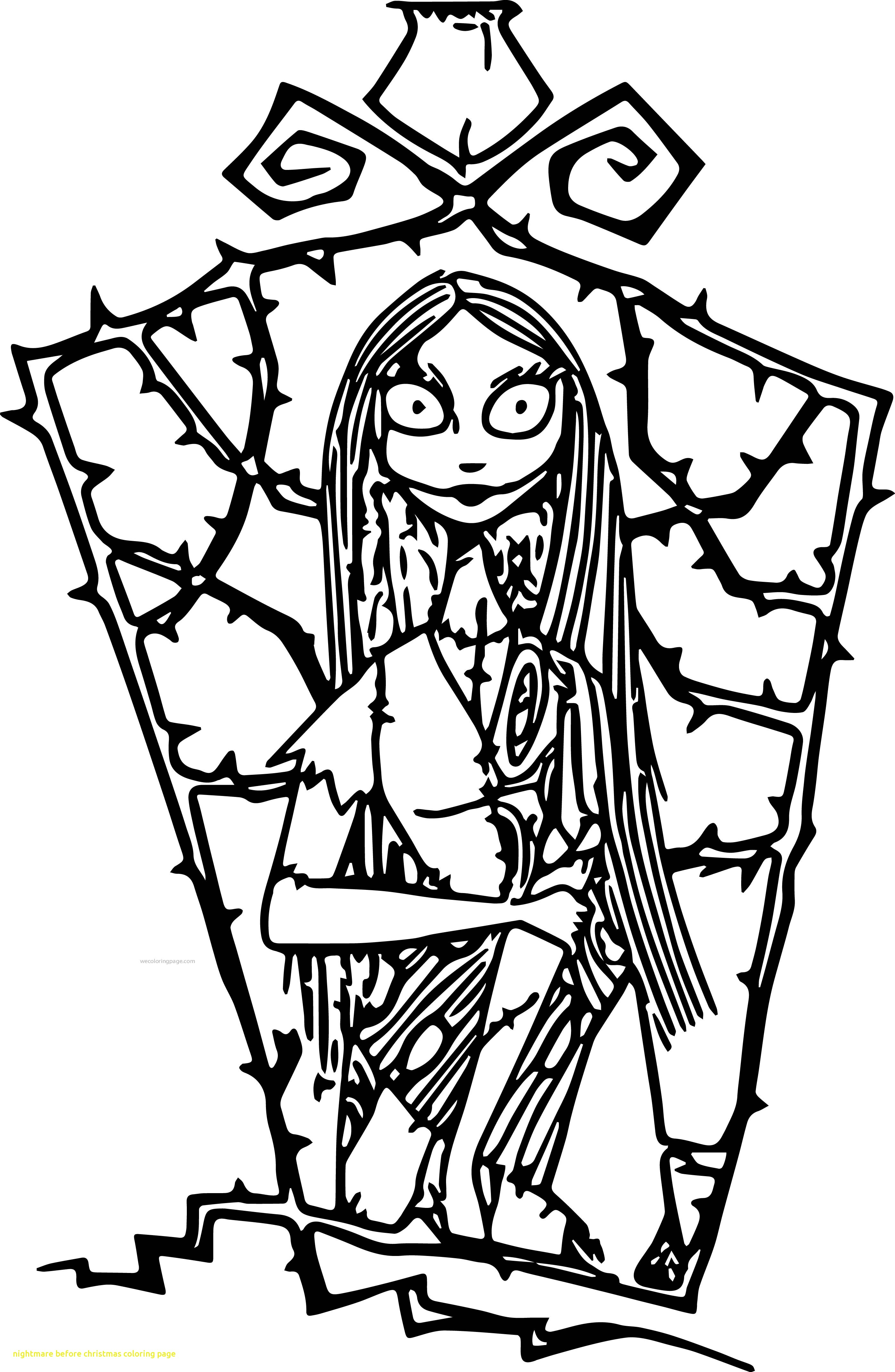 Christmas Coloring Pages To Print With Nightmare Before Gallery Free