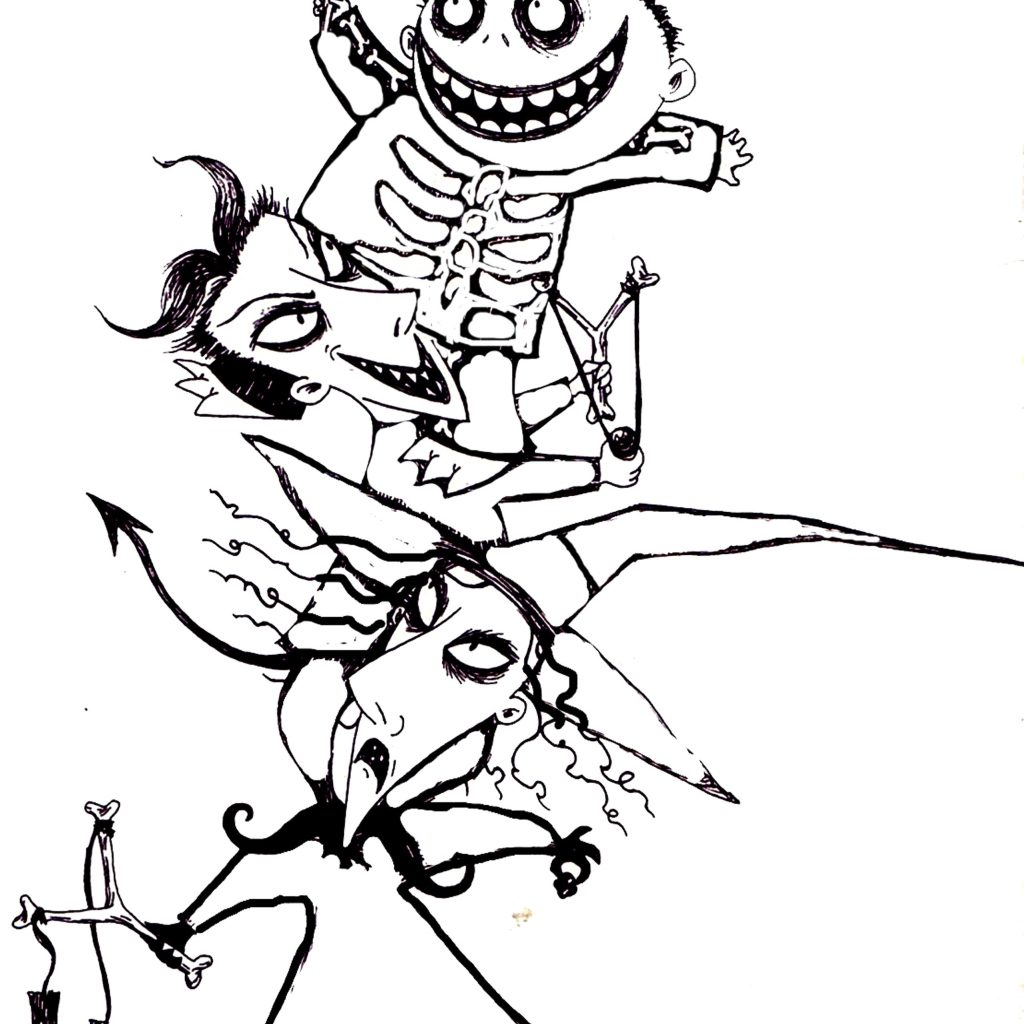 Christmas Coloring Pages To Print With Nightmare Before Printables Printable