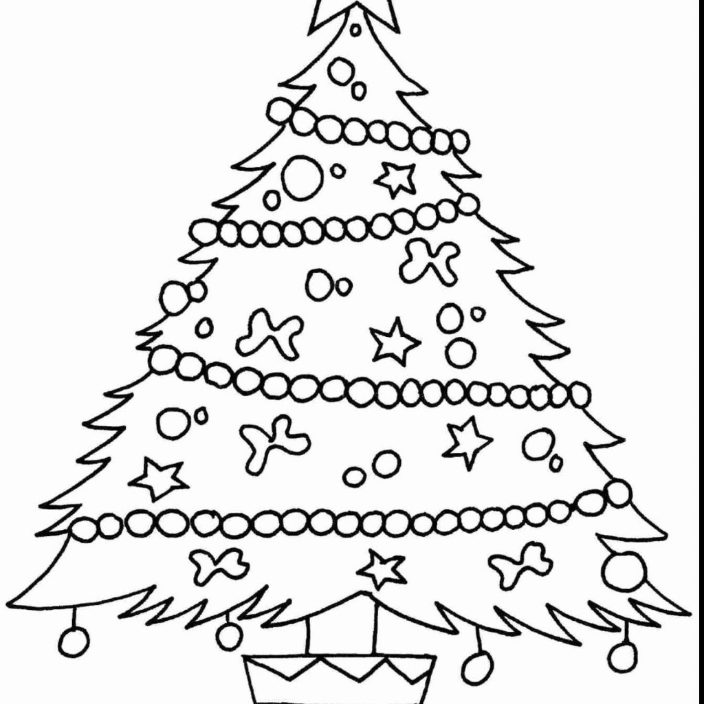 Christmas Coloring Pages Trees With Big Refrence Free