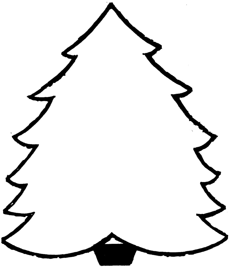 Christmas Coloring Pages Trees With Color In Pictures