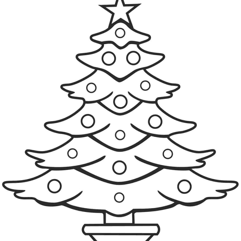 Christmas Coloring Pages Trees With Xmas Stuff For Tree Kids Printable