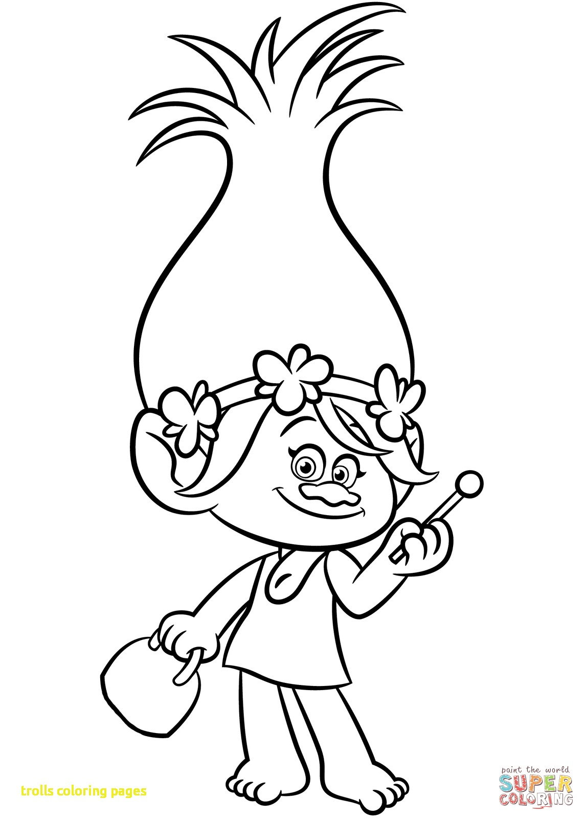 Christmas Coloring Pages Trolls With Click The Branch Poppy From Best Free