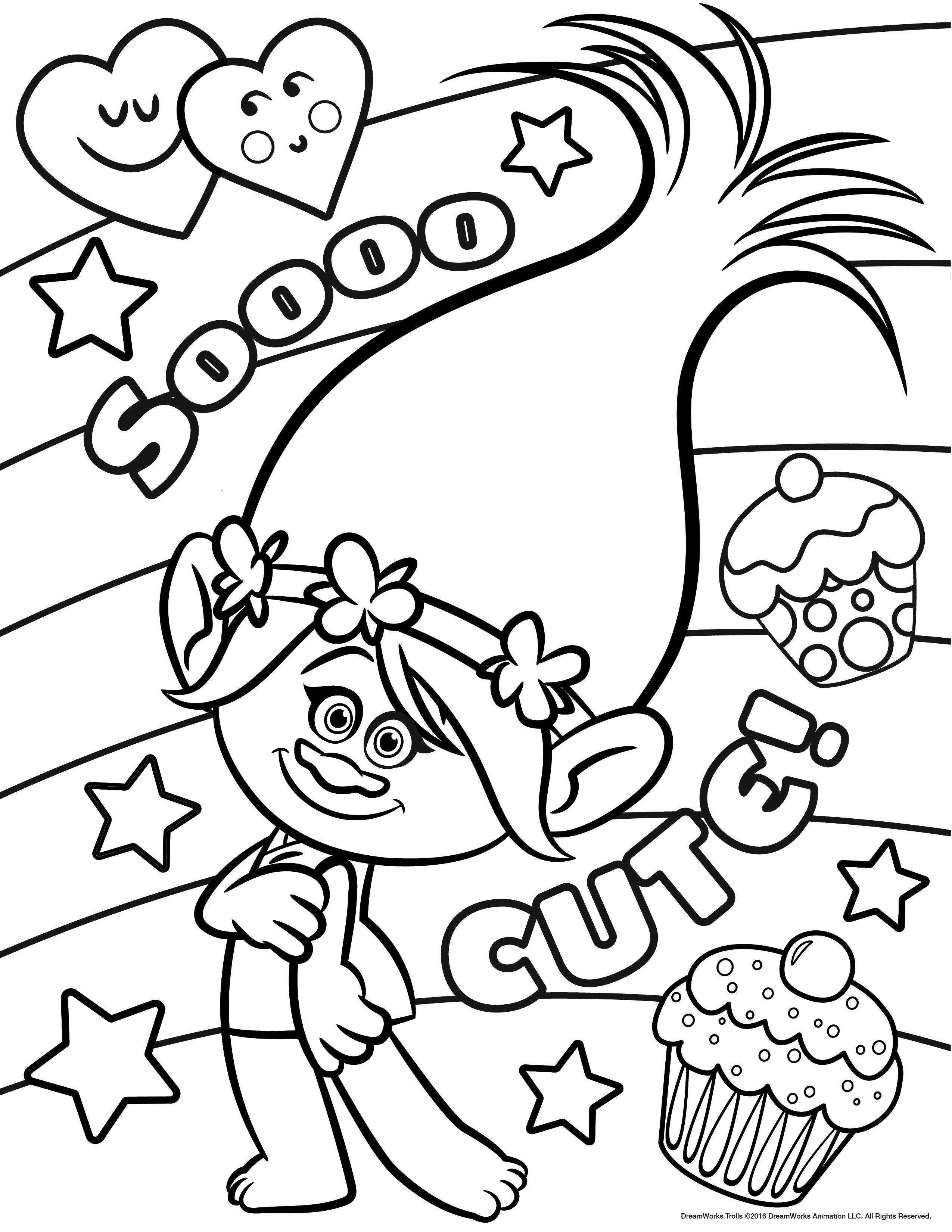 Christmas Coloring Pages Trolls With Movie Best For Kids