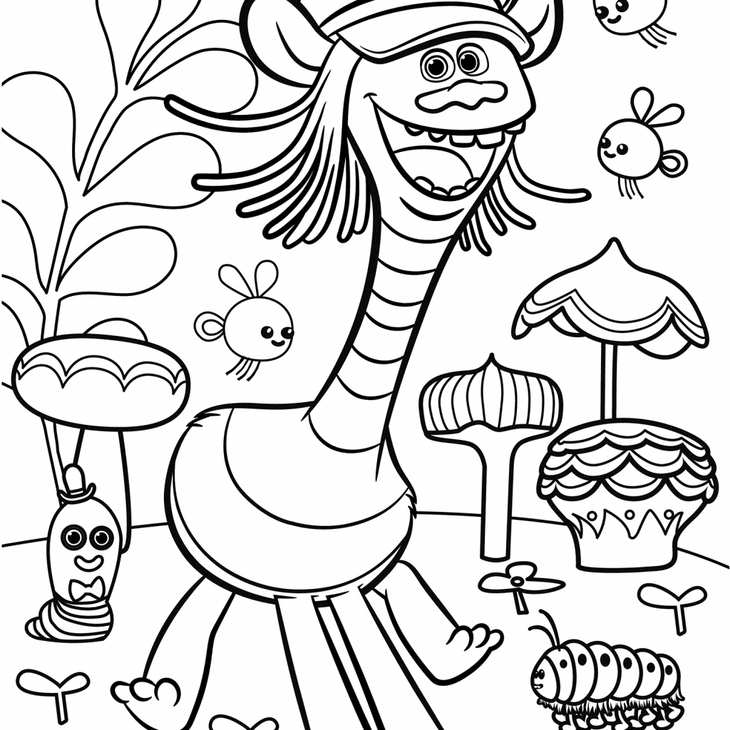 Christmas Coloring Pages Trolls With Movie Color Troll Printable