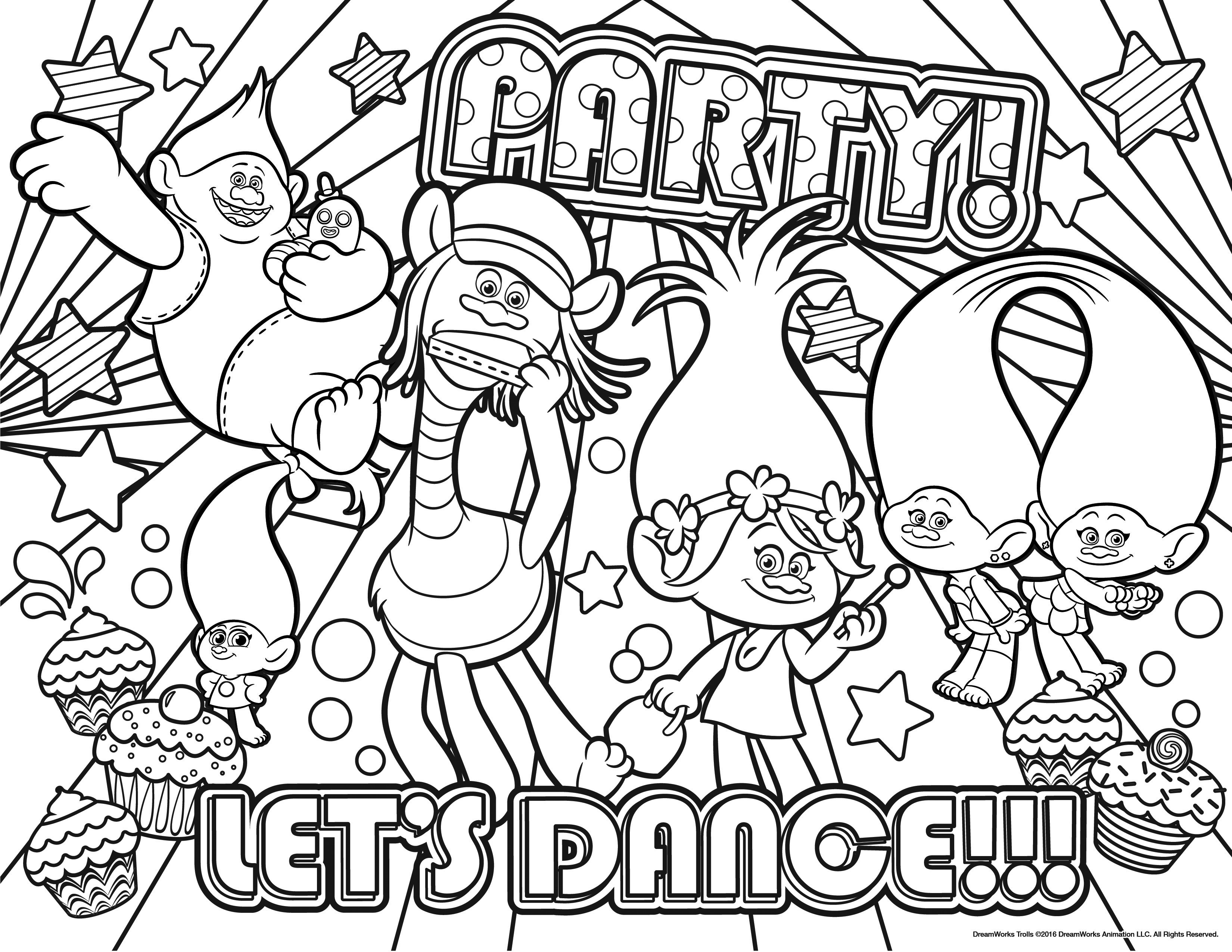 Christmas Coloring Pages Trolls With New Free Disney Printable Design