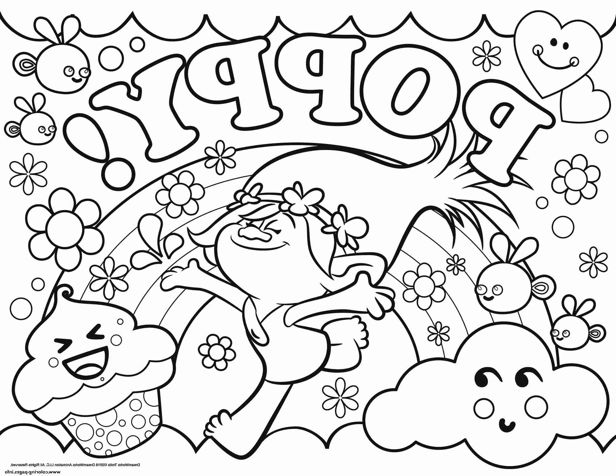 Christmas Coloring Pages Trolls With Pinterest Free Best Poppy