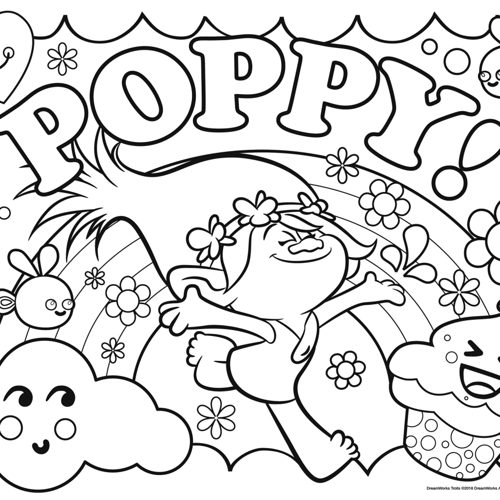 Christmas Coloring Pages Trolls With Print Poppy Color Time In 2018 Pinterest
