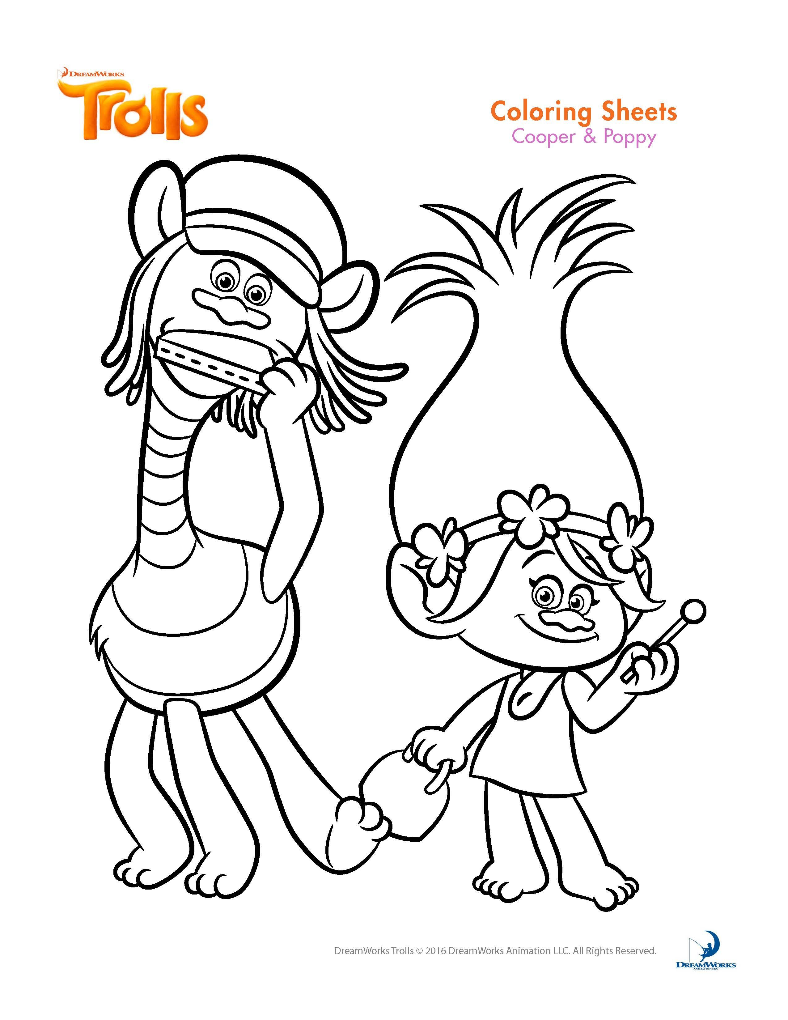 Christmas Coloring Pages Trolls With Sheets And Printable Activity B Day