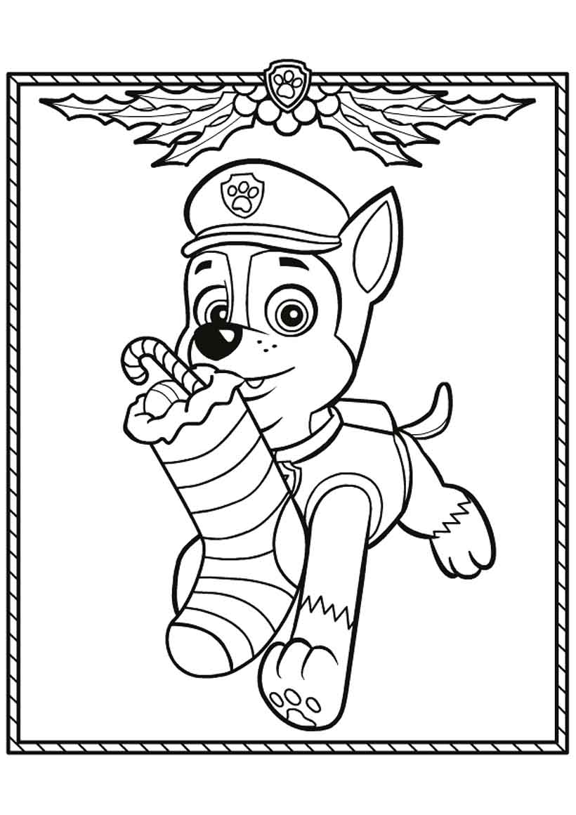 Christmas Coloring Pages Trolls With Tracker Free Page Animals Kids Paw Patrol