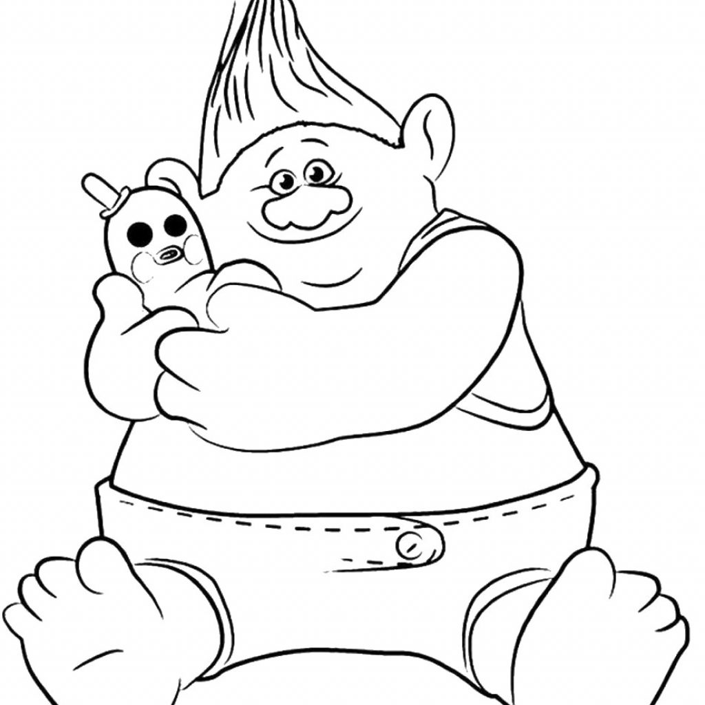 Christmas Coloring Pages Trolls With Troll Branch From Page Pinterest