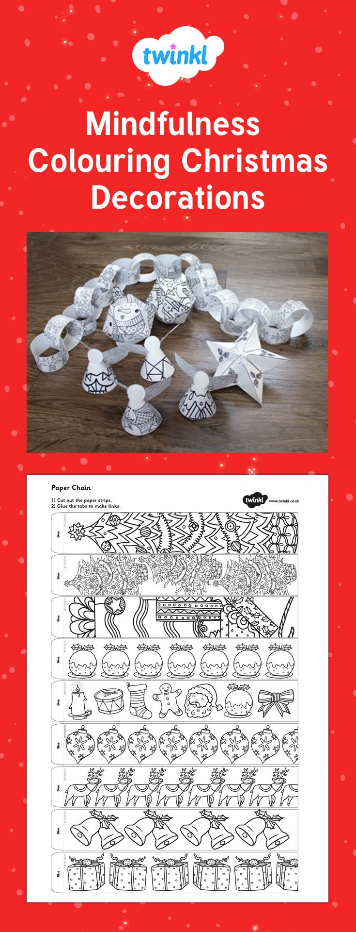 Christmas Coloring Pages Twinkl With 26 Best Crafts Images On Pinterest
