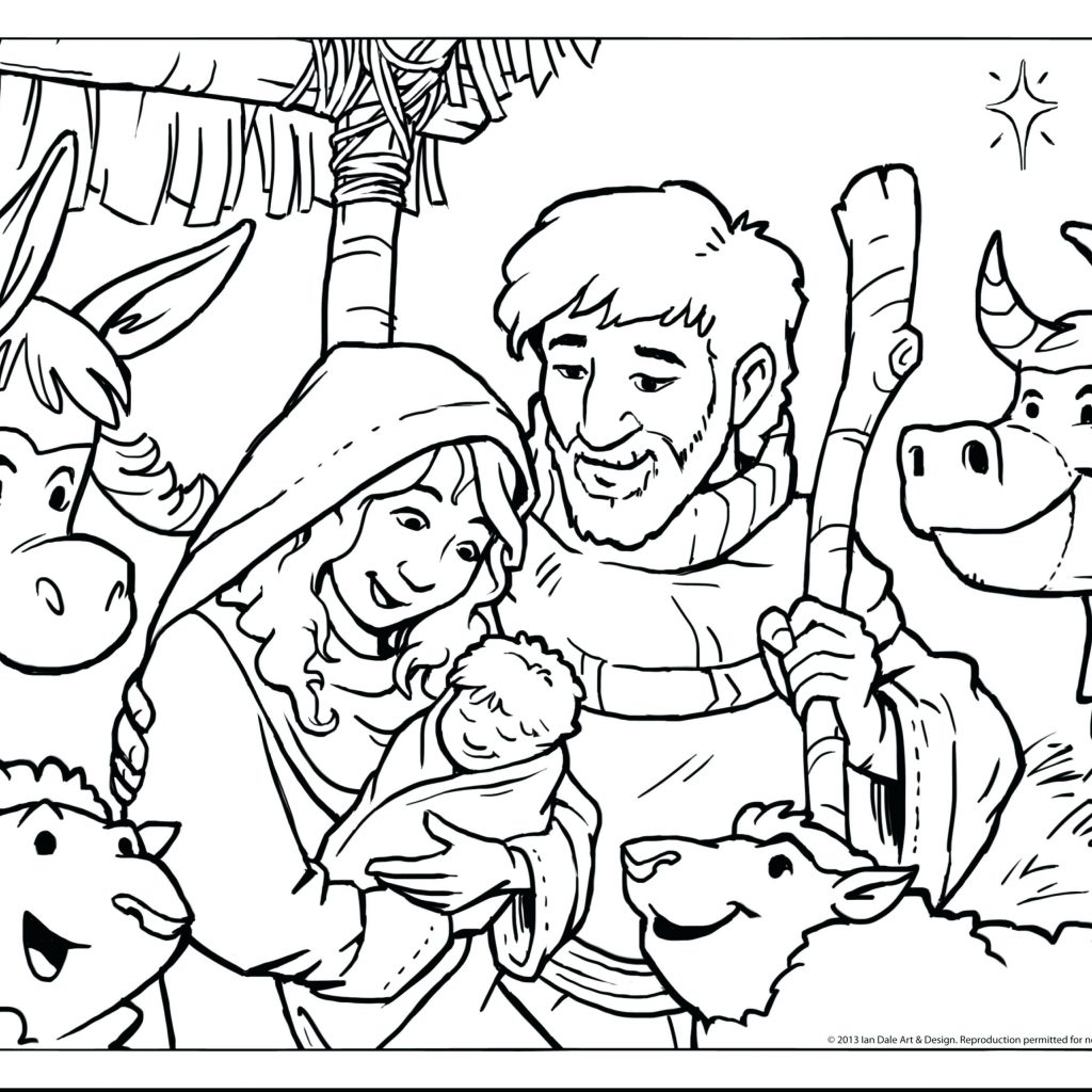 Christmas Coloring Pages Twinkl With Nativity 2018 Open
