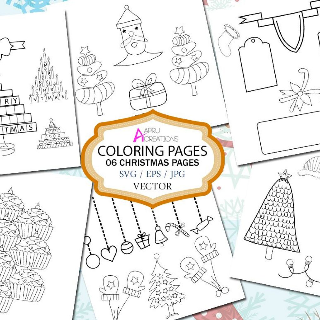 Christmas Coloring Pages Vector With Page Printable