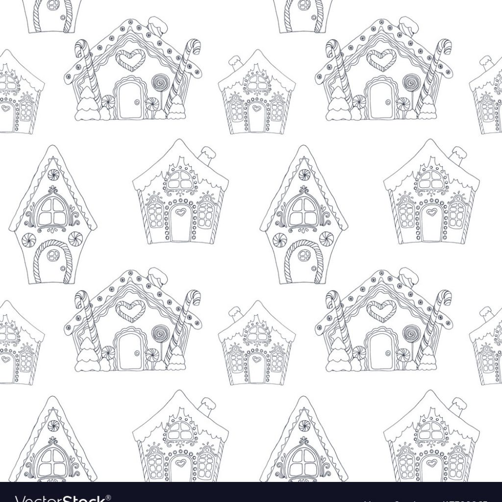 Christmas Coloring Pages Vector With Pattern Royalty Free Image