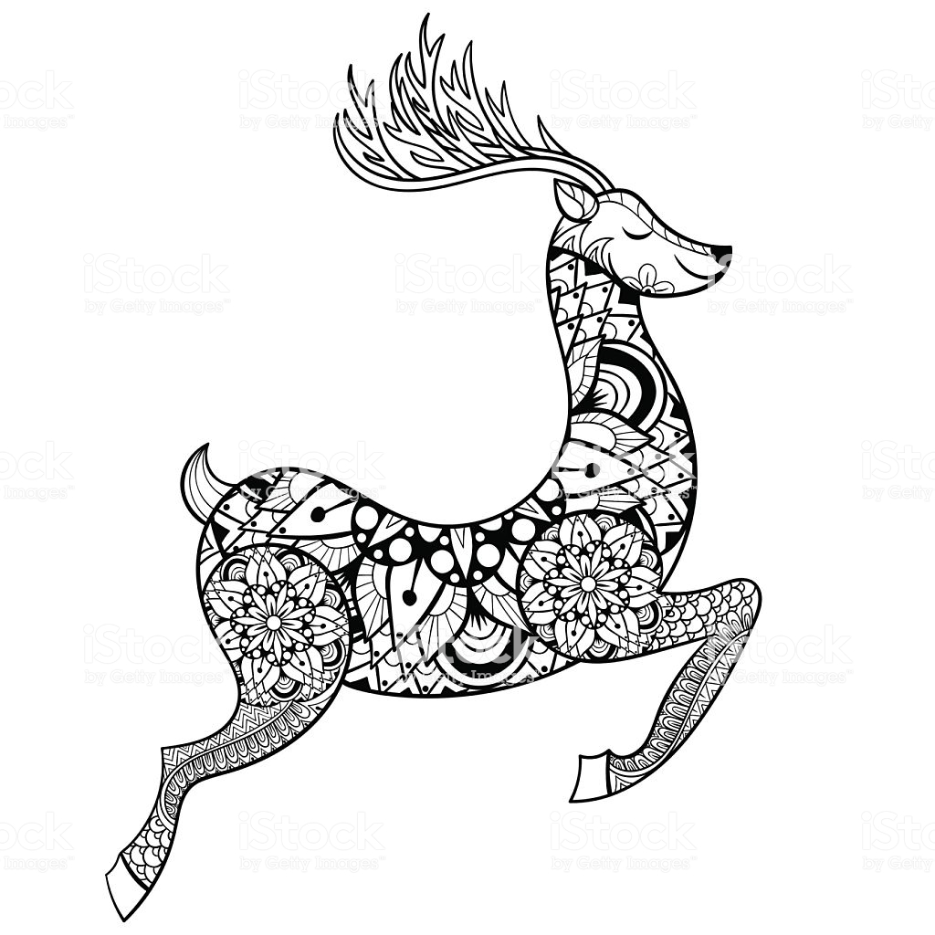 Christmas Coloring Pages Vector With Printable Page For Kids