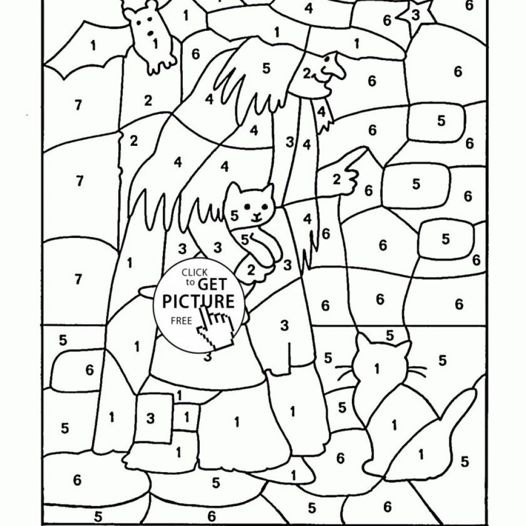 Christmas Coloring Pages With Addition Halloween For First Graders Free