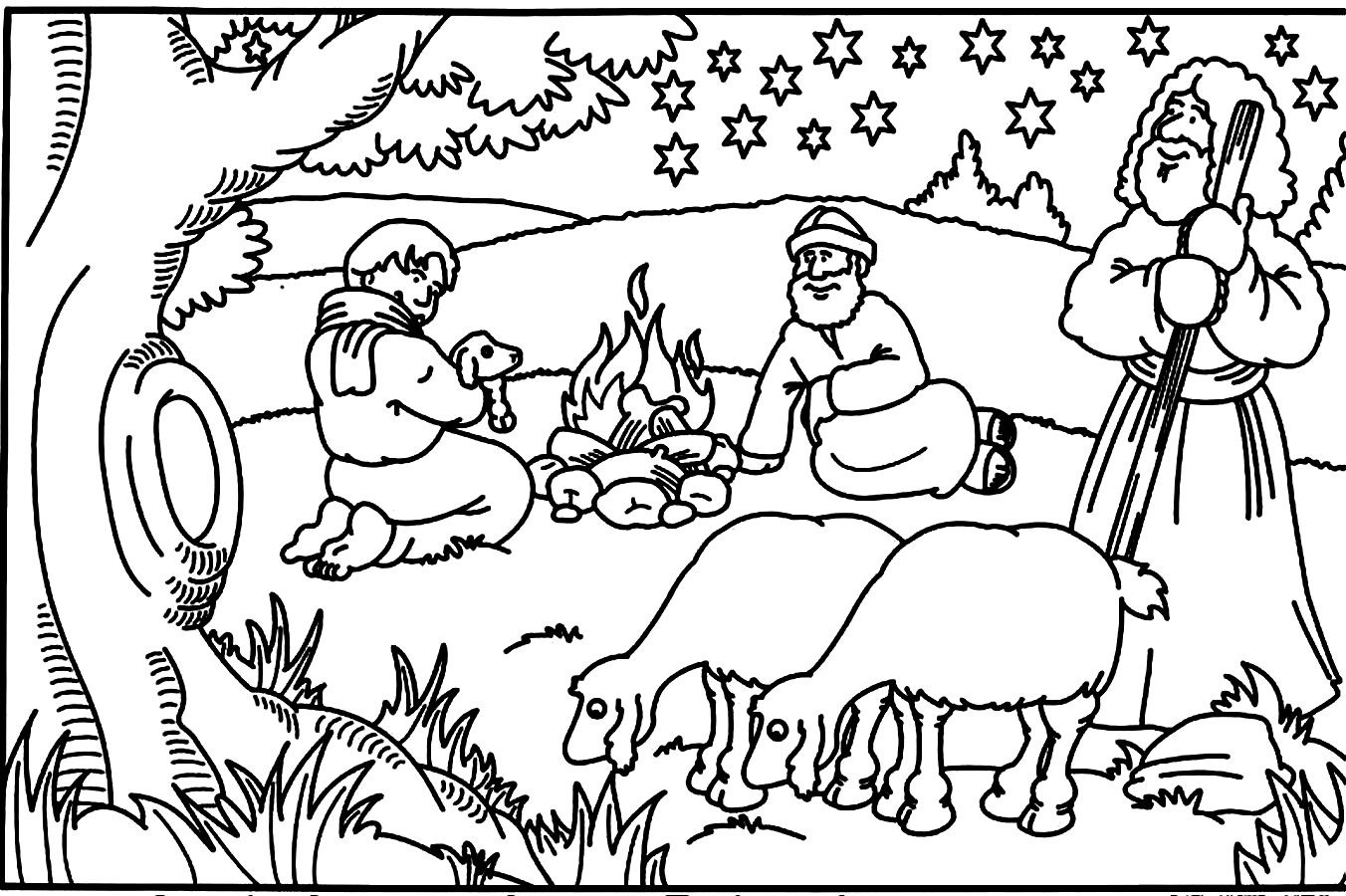 Christmas Coloring Pages With Bible Verses Christian Childrens Free 2015902