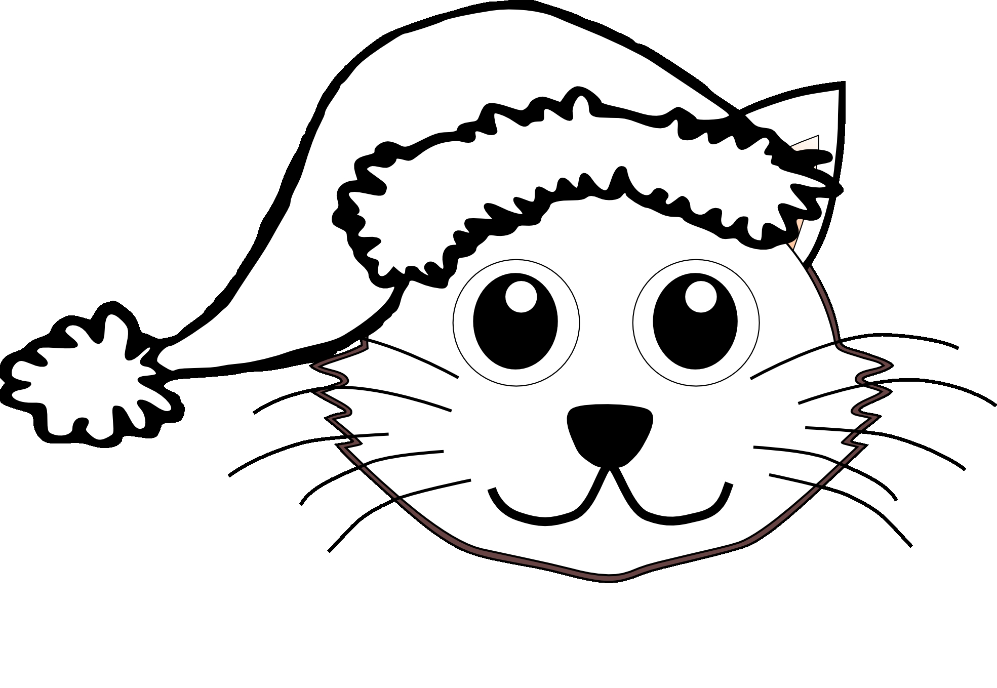 Christmas Coloring Pages With Cats Cat Printable Free Books