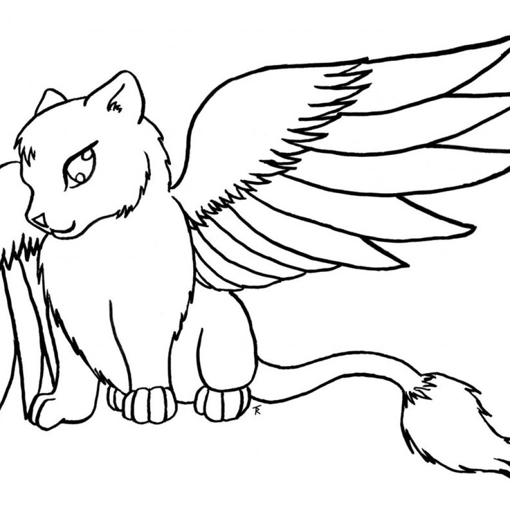 Christmas Coloring Pages With Cats Kitty Cat 33