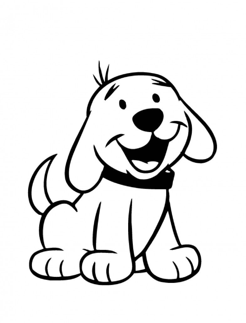 Christmas Coloring Pages With Dogs Dog For Kids Preschool And Kindergarten