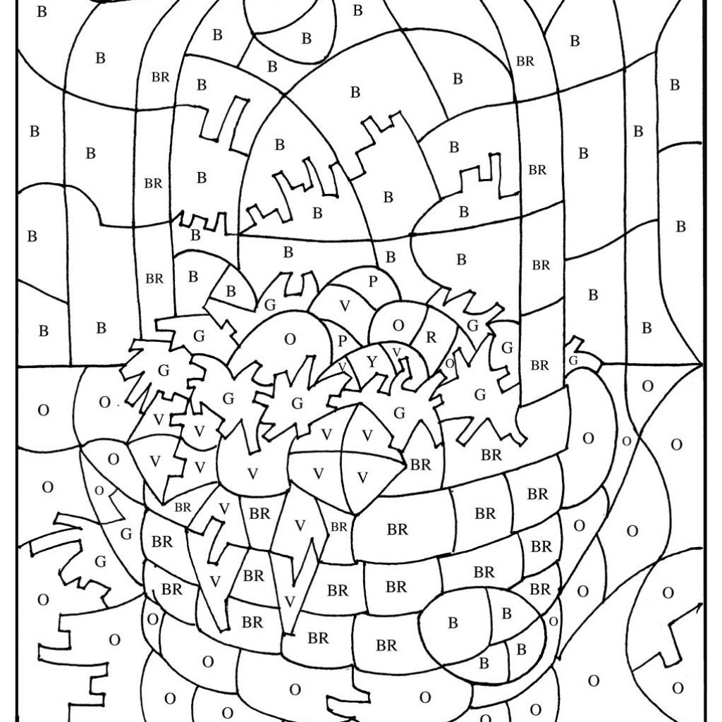 Christmas Coloring Pages With Instructions Color By Number