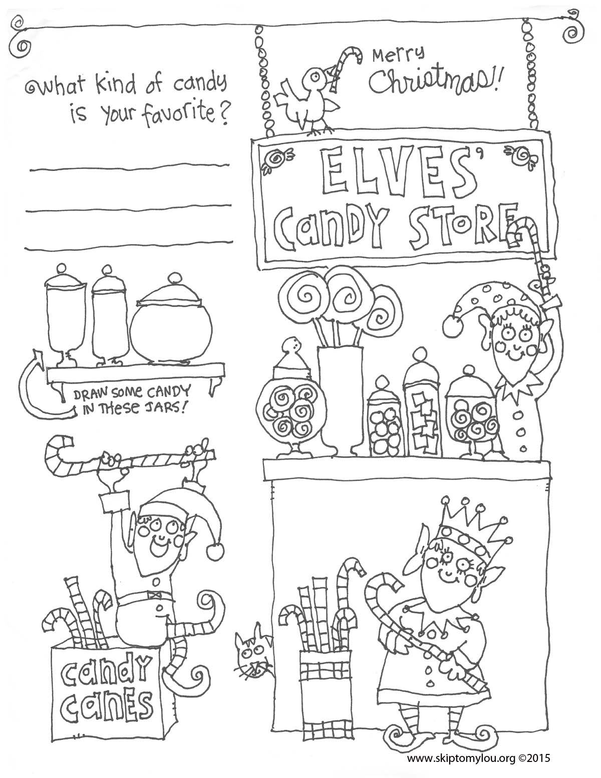 Christmas Coloring Pages With Instructions Free Skip To My Lou