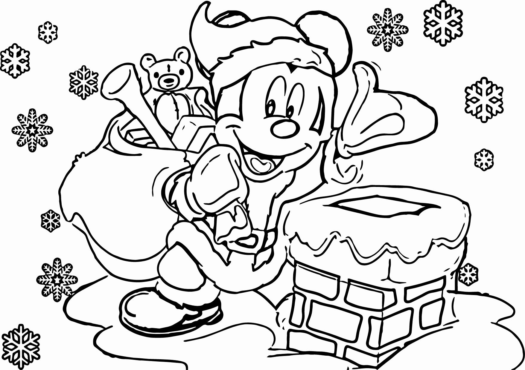 Christmas Coloring Pages With New Paper Print