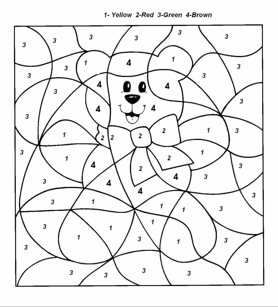 Christmas Coloring Pages With Numbers Easy Color By Number For Preschool And Kindergarten