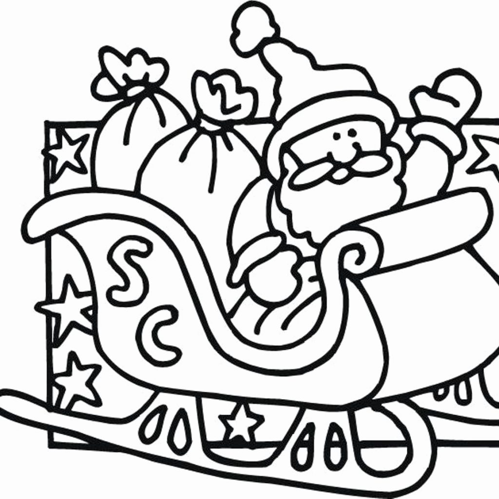 Christmas Coloring Pages With Reindeer Santa And Drawing