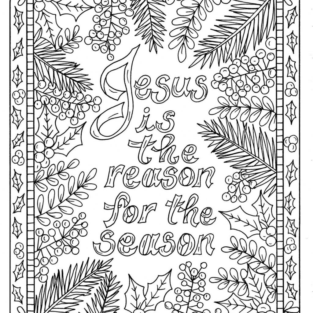 Christmas Coloring Pages With Scripture 5 Christian For Color Book Digital Adult