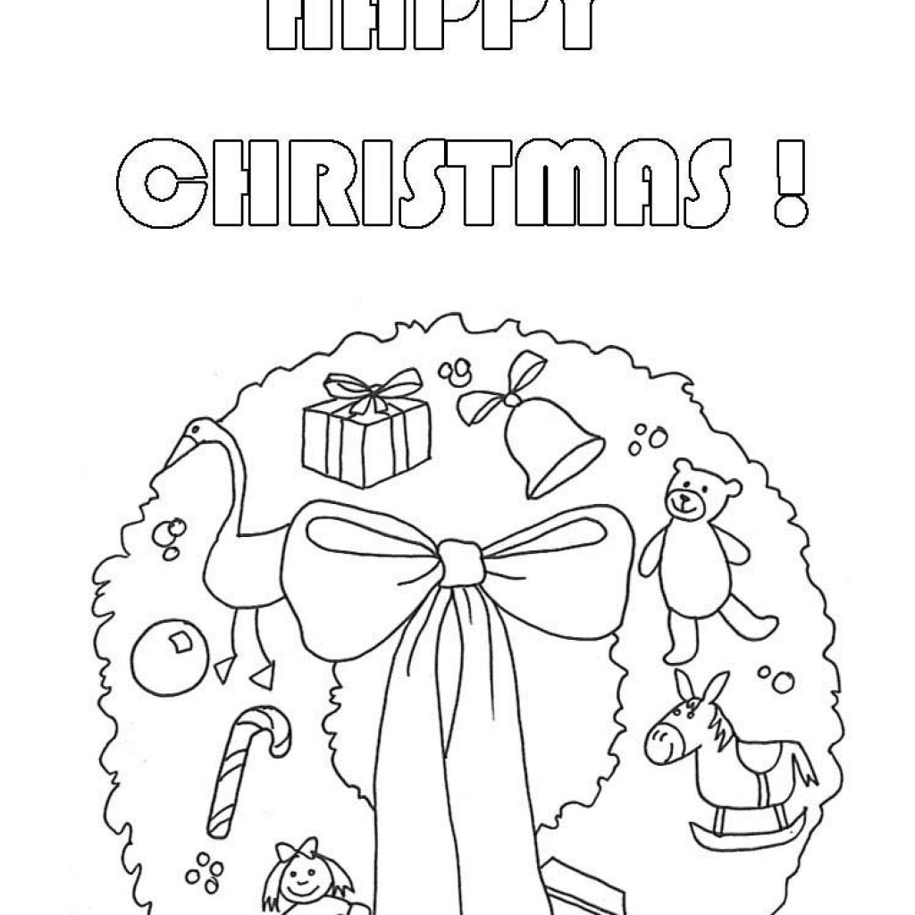 Christmas Coloring Pages Wreath With