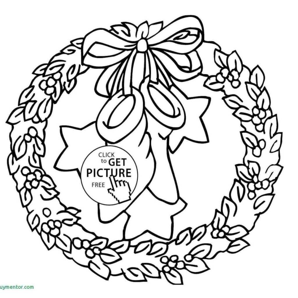 Christmas Coloring Pages Wreath With Simple Drawing Inspirational Wreaths