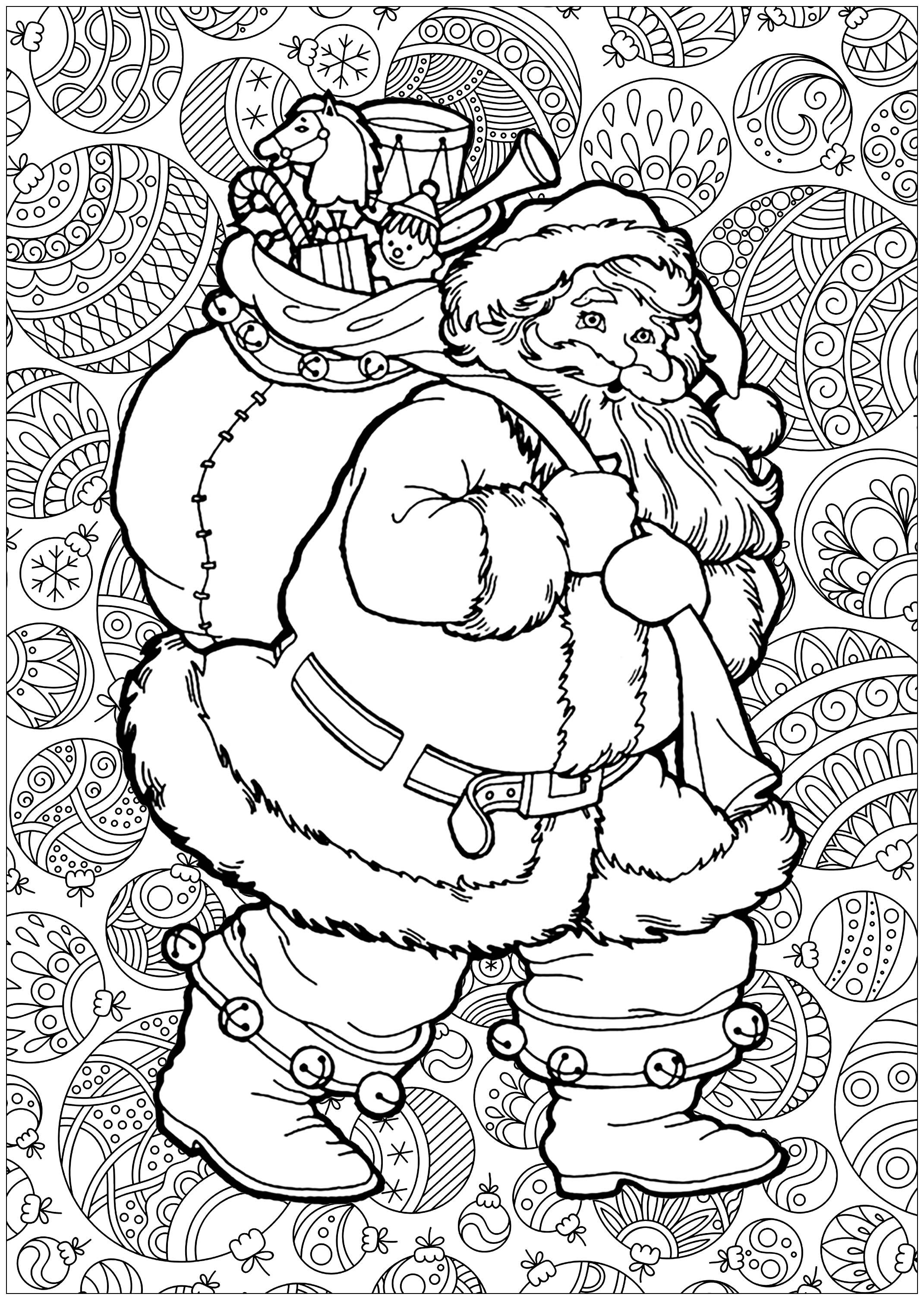 Christmas Coloring Pages Wreath With These Are Dedicated To Adults Or Kids