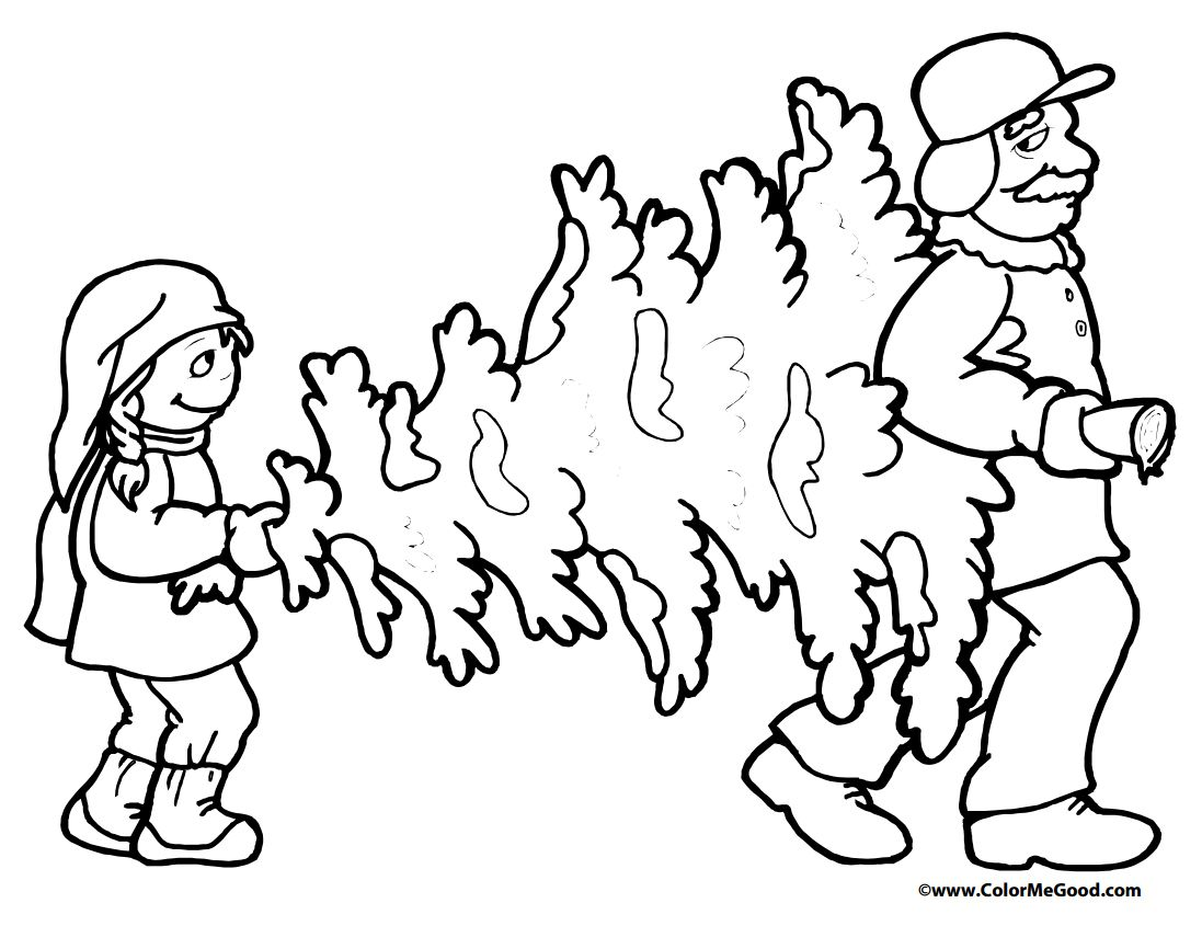 Christmas Coloring Pages Ws With 113 Free Tree For The Kids