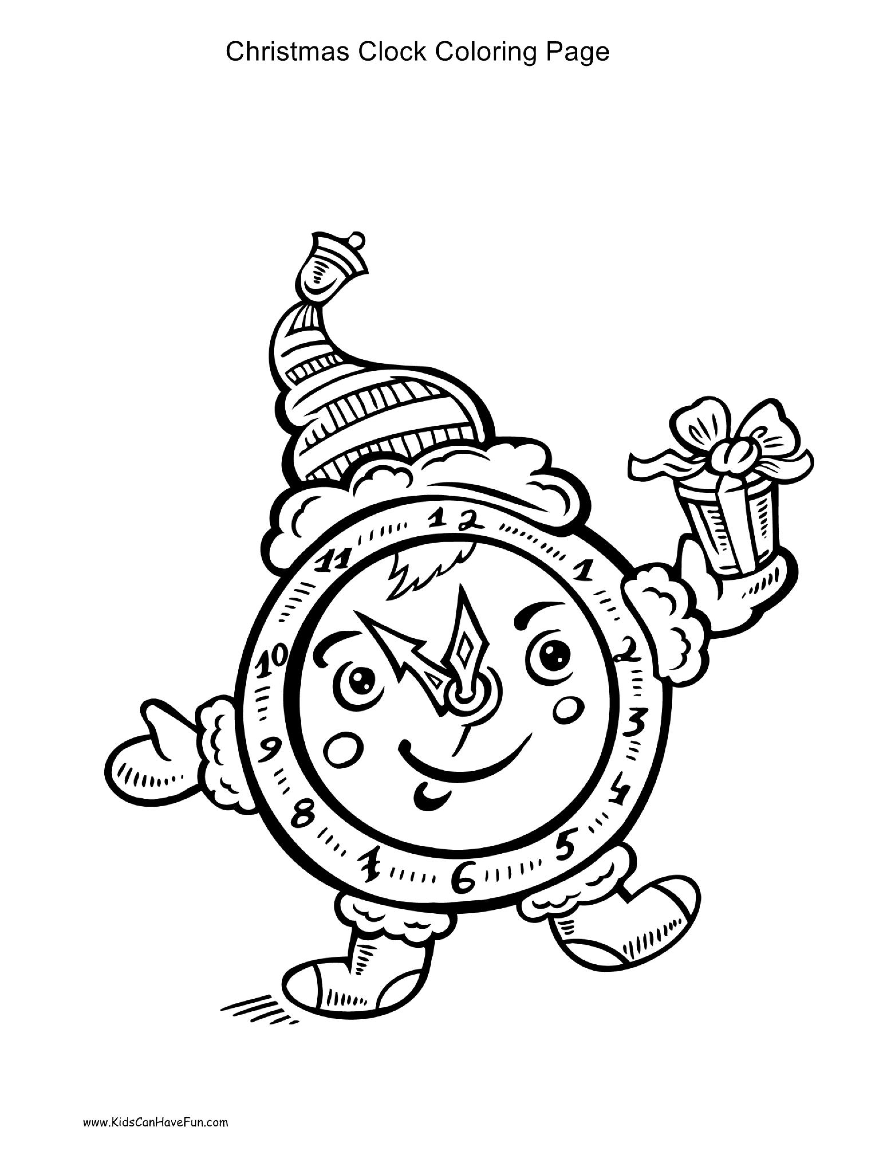 Christmas Coloring Pages Ws With Alphabet Htm New Clock Page Juan