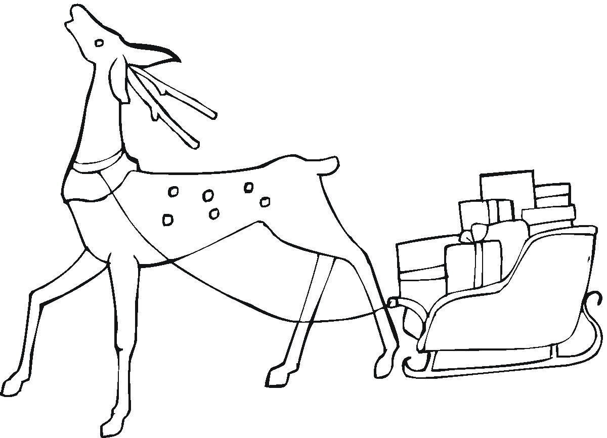 Christmas Coloring Pages Ws With Page From Santas Workshop Reindeer