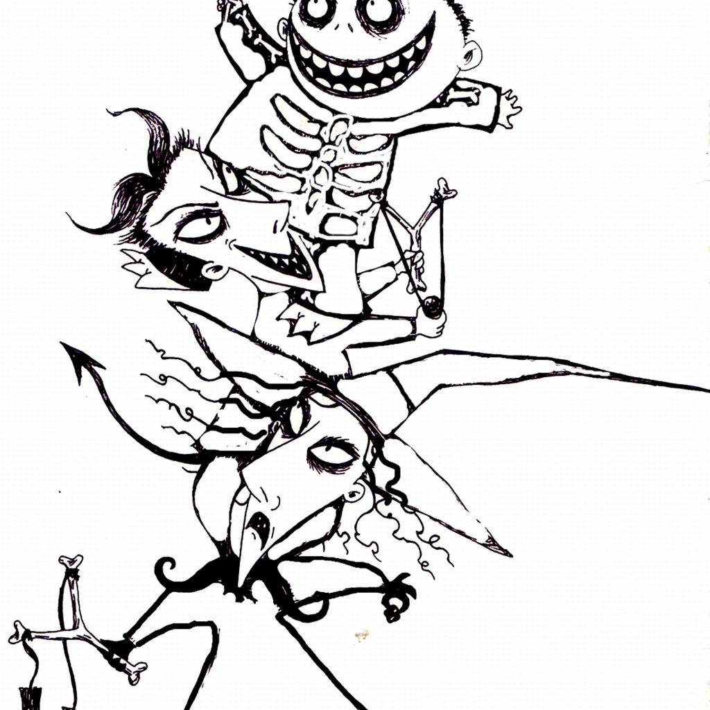 Christmas Coloring Pages You Can Print With Awesome Nightmare Before To Gallery