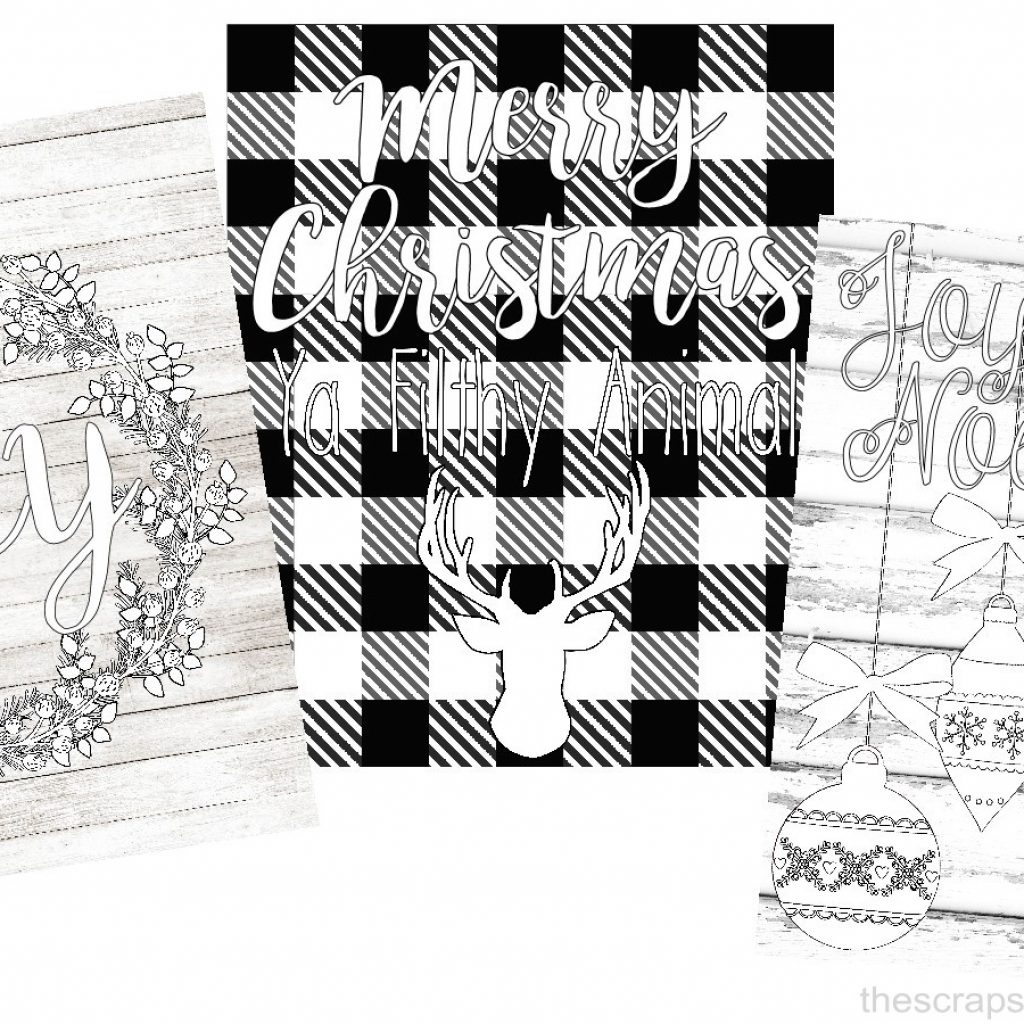 Christmas Coloring Patterns With Printables The Scrap Shoppe