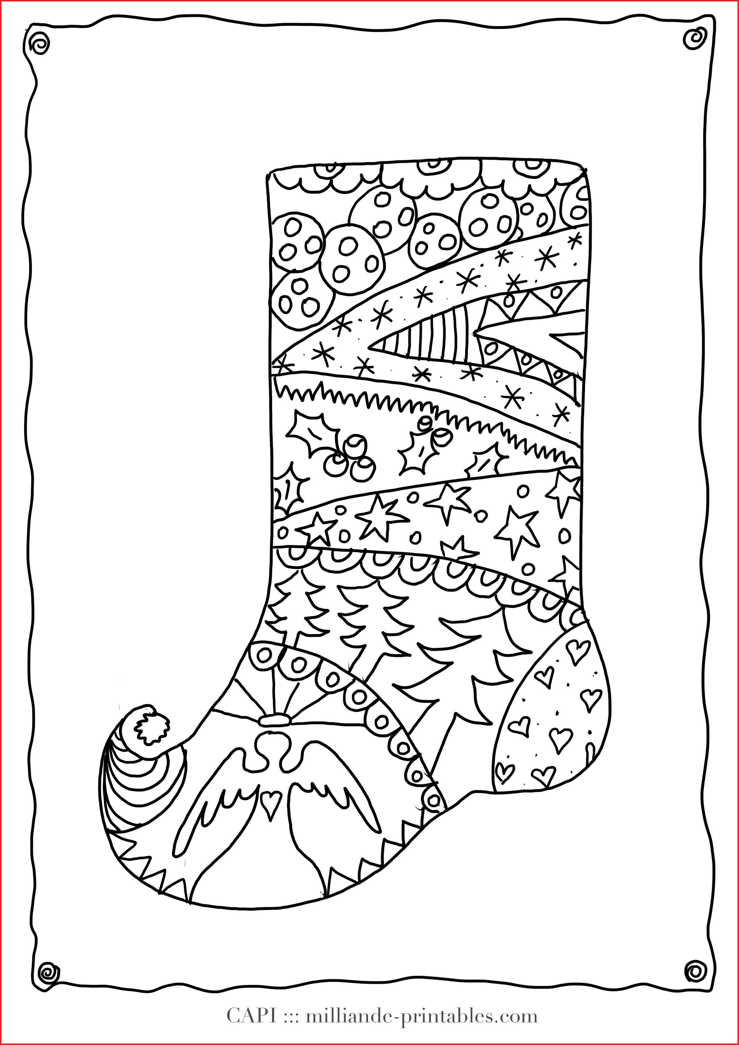 Christmas Coloring Pictures For Adults With Adult Pages 27583 Stocking To Color