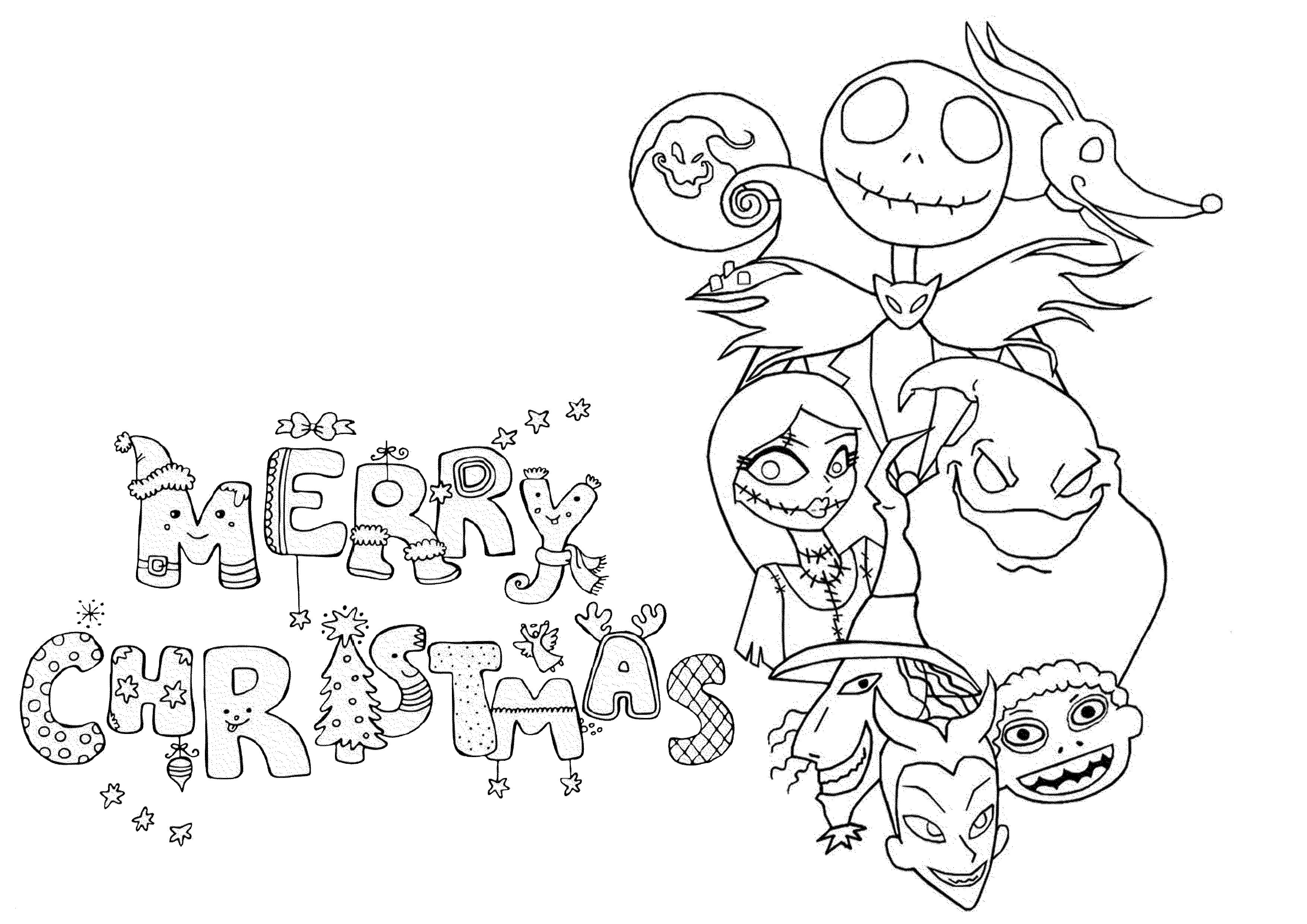 Christmas Coloring Pictures For Adults With Pages Pdf Printable Page