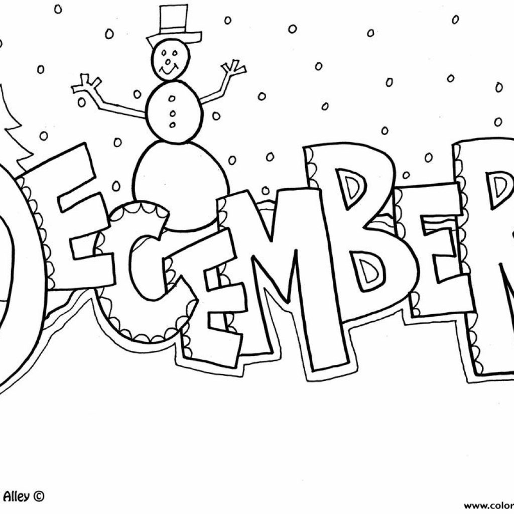 Christmas Coloring Pictures With December Pages Printable