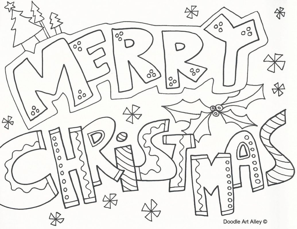 Christmas Coloring Pictures With Merry Pages To Download And Print For Free
