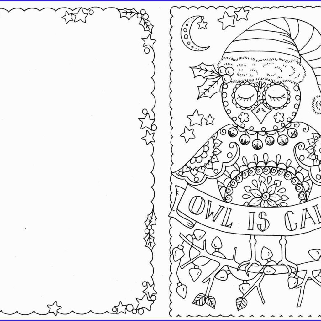 Christmas Coloring Postcards With Postcard Book Elegant Page Robot Grig3