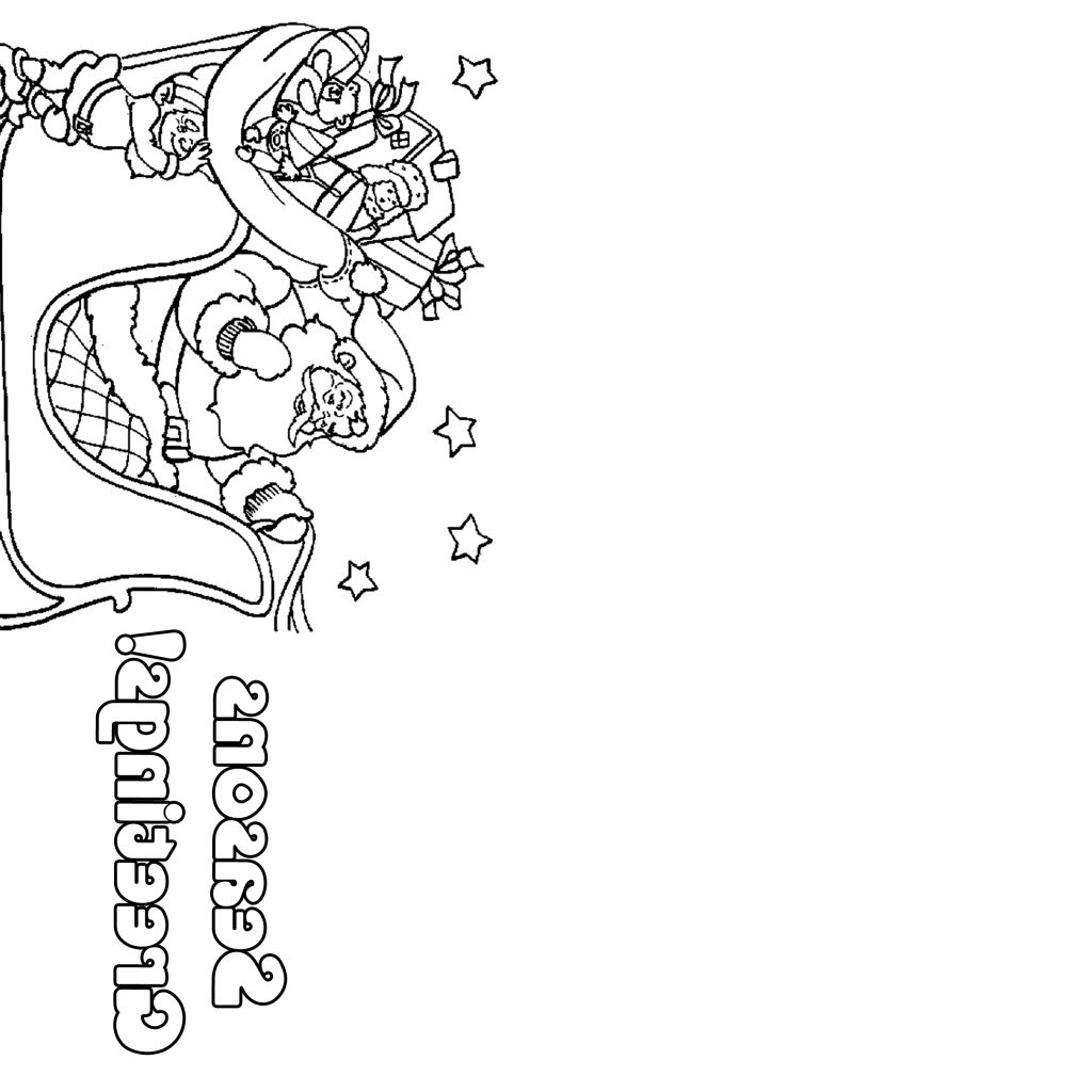 Christmas Coloring Printable Cards With JABN Inspiration
