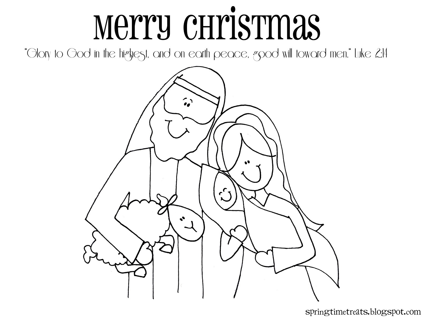 Christmas Coloring Printable Cards With Pages
