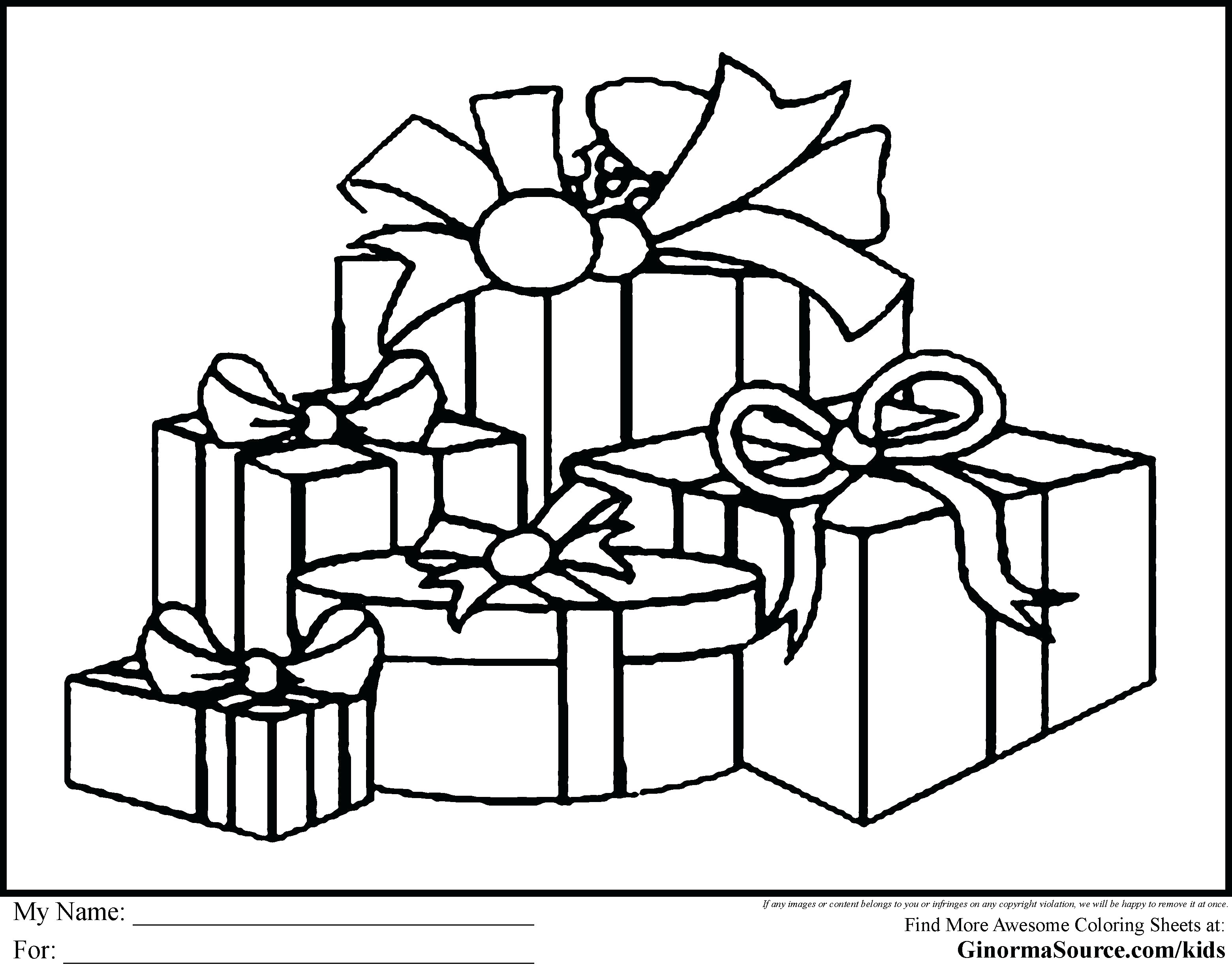 Christmas Coloring Printable Sheets With Pages Presents 2 Modern Home Design Decorating